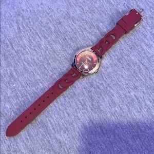 Coach burgundy silicone watch